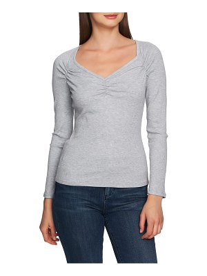 1.State ruched sweetheart neck top