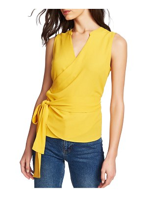 1.State sleeveless crepe wrap top