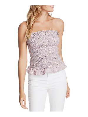 1.State smocked floral tube top