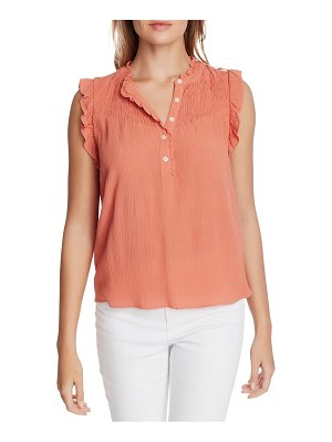 1.State smocked yoke blouse