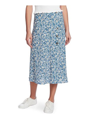 1.State soiree button front midi skirt