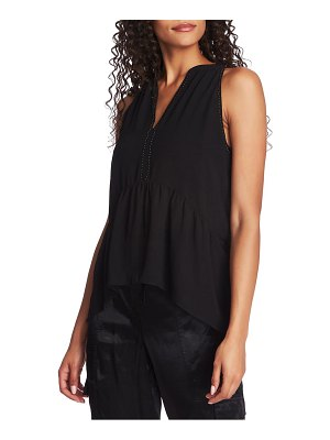 1.State stud detail sleeveless blouse