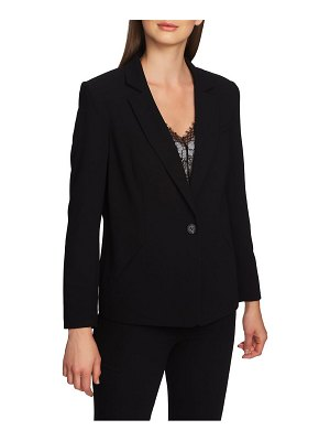 1.State textured crepe single button blazer
