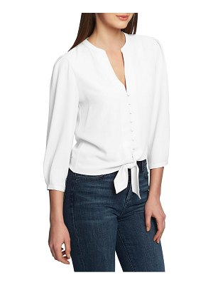 1.State tie front blouse