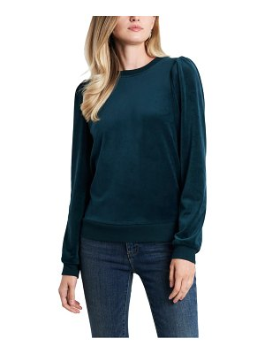 1.State velour puff sleeve top