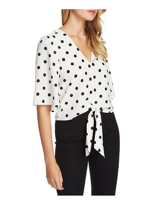 1.State vintage dot tie front top