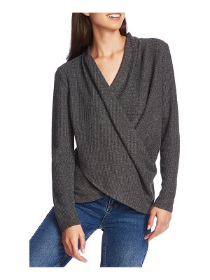 1.State waffle knit cross front top
