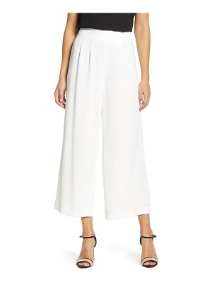 1.State wide leg crepe trousers