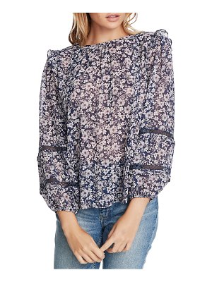 1.State wildflower bouquet lace inset blouse