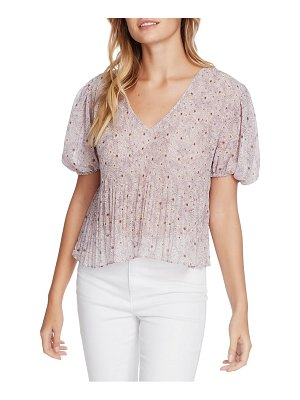 1.State wildflower bouquet pleated blouse