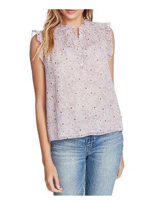 1.State wildflower bouquet smocked yoke blouse