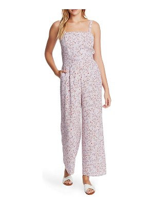 1.State wildflower vines tie back floral jumpsuit