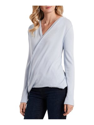 1.State wrap front long sleeve top