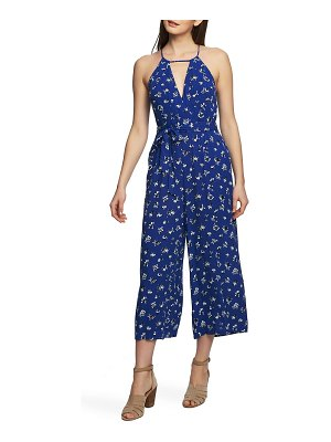 1.State wrap front sleeveless jumpsuit