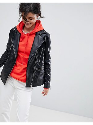 2nd Day 2NDDAY Longline Leather Biker Jacket