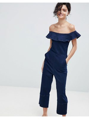 2nd Day 2NDDAY Off Shoulder Jumpsuit in Stretch Denim