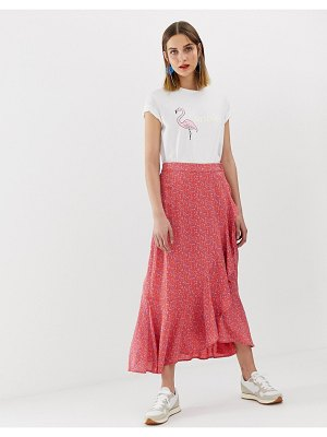 2nd Day 2ndday printed wrap skirt in midi length