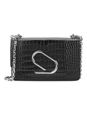 3.1 phillip lim alix croc-embossed leather clutch