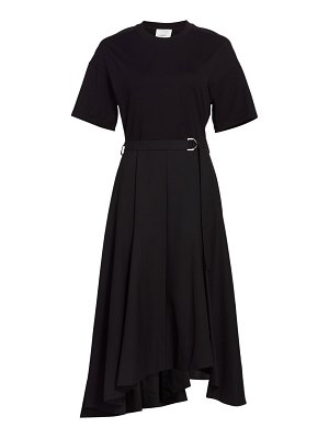 3.1 phillip lim asymmetric belted a-line t-shirt dress