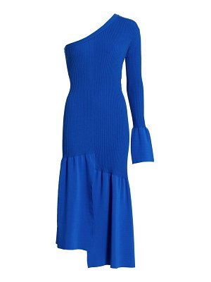 3.1 phillip lim asymmetrical one-sleeve cutout dress