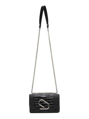 3.1 phillip lim black croc alix chain clutch bag