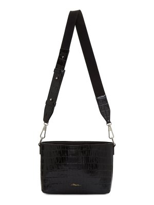 3.1 phillip lim black croc claire crossbody bag