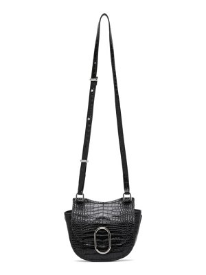 3.1 phillip lim black croc mini hunter alix bag