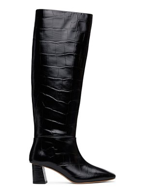 3.1 phillip lim black croc tess tall boots