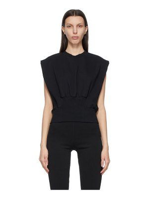 3.1 phillip lim black french terry tank top