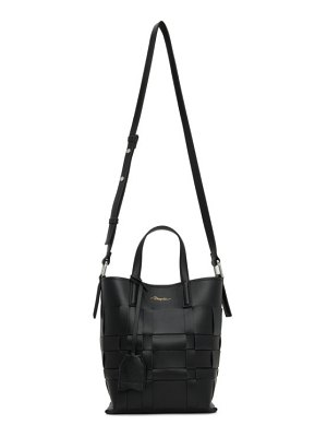 3.1 phillip lim black mini odita modern lattice bucket bag