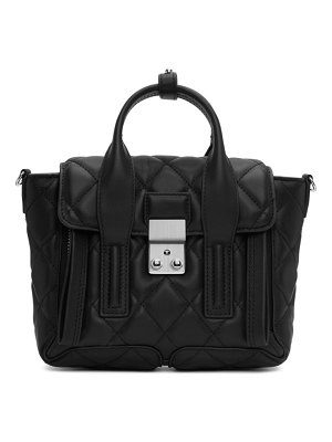 3.1 phillip lim black quilted mini pashli satchel