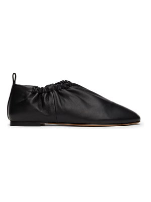 3.1 phillip lim black ruched leather slippers