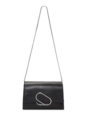 3.1 phillip lim black soft flap clutch bag