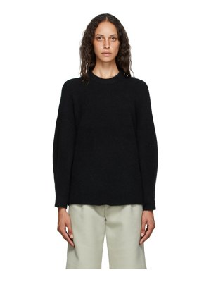3.1 phillip lim black wool crewneck sweater