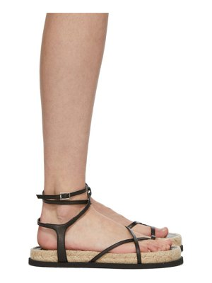 3.1 phillip lim black yasmine strappy espadrille sandals