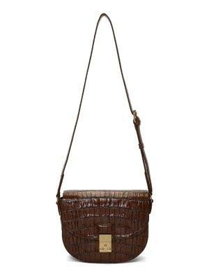 3.1 phillip lim brown croc pashli saddle bag