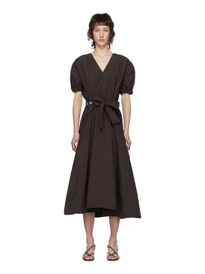 3.1 phillip lim brown gathered utility dress