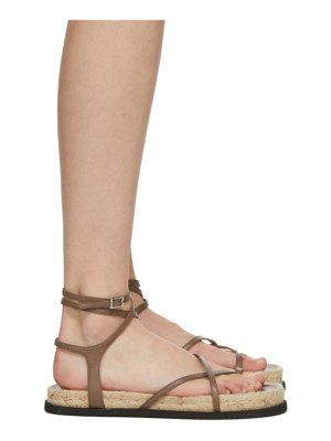 3.1 phillip lim brown yasmine strappy espadrille sandals