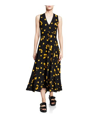 3.1 phillip lim Cherry-Print Sleeveless Maxi Dress
