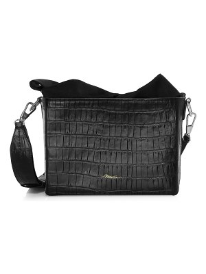3.1 phillip lim claire croc-embossed leather crossbody bag