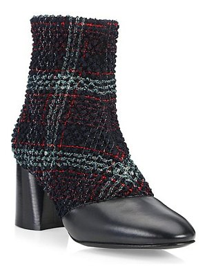 3.1 phillip lim drum tweed & leather ankle boots