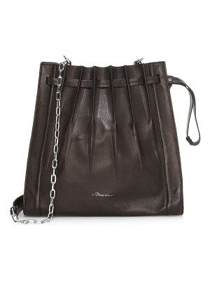 3.1 phillip lim florence pleated drawstring leather bucket bag