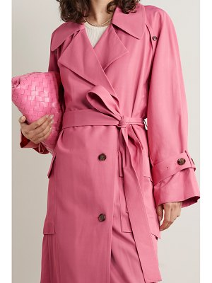 3.1 phillip lim flou belted double-breasted twill trench coat