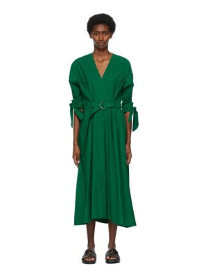 3.1 phillip lim green belted mid-length dress