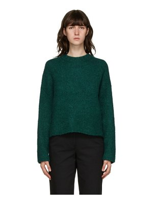 3.1 phillip lim green long sleeve alpaca sweater