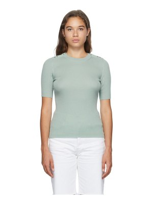 3.1 phillip lim green picot stitch t-shirt