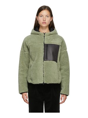 3.1 phillip lim green sherpa bonded sporty jacket