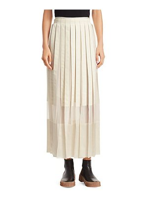 3.1 phillip lim grosgrain pleated midi skirt