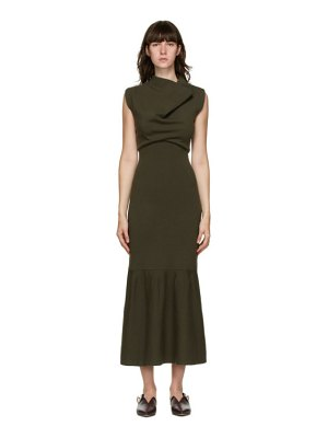 3.1 phillip lim khaki cowl neck dress