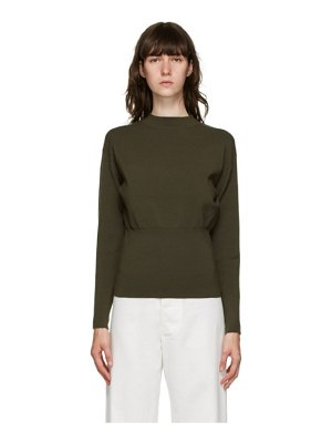 3.1 phillip lim khaki rib knit sweater